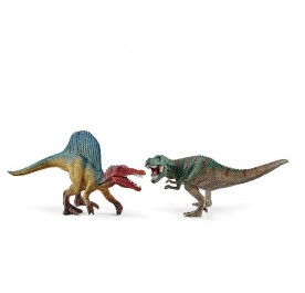 Schleich Spinosaurus and T-rex, small