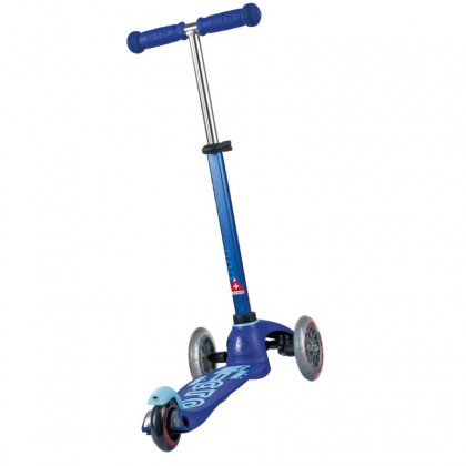Micro 006 Mini Deluxe, Blue 3-Wheeled, Lean-to-Steer, Swiss-Designed Ages 2-5 years