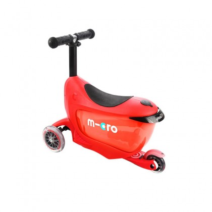 Micro - Micro Mini2go Deluxe Red Ride-On Scooter for 18month to 5 years