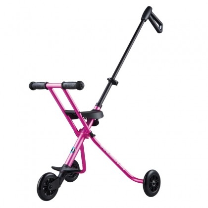 Micro Portable Light weight foldable Trike Deluxe Pink with seatbelt