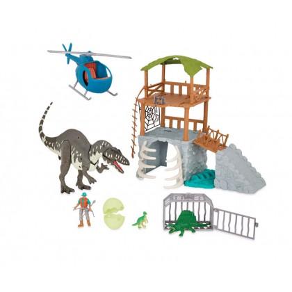TERRA-Electronic Acrocanthosaurus Jungle Tower Playset (13 pc)