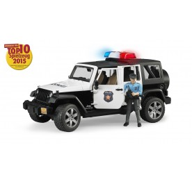 Bruder Jeep Wrangler Unlimited Rubicon Police Vehicle with Poilceman & Accessories