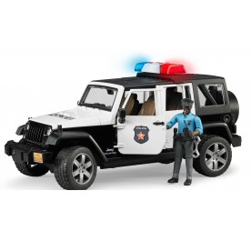Bruder Jeep Wrangler Unlimited Police Vehicle + Dark Skin Poilceman
