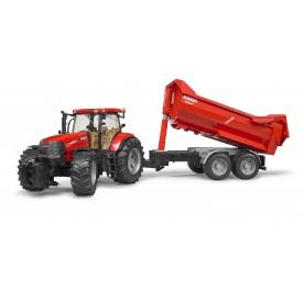 Bruder Case IH Puma 230 CVX Tractor with Tandem Halfpipe Trailer