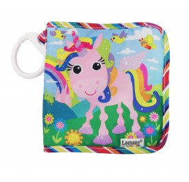 Lamaza Unicorn Discovery Book Clip on Pram