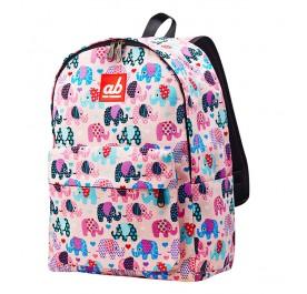 AB Pinky Elephant Kids Canvas Backpack