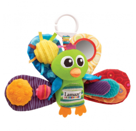 Lamaze Jacque the Peacock Clip On Pram Toy