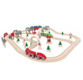 Hape Railway High & Low Railway Set
