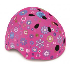 Globber Helmet Junior Flower Deep Pink XXS/XS (48cm to 51cm)