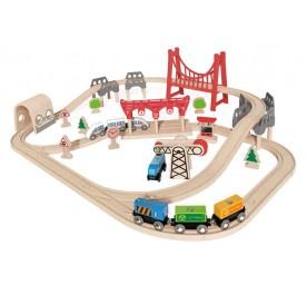 Hape Railway Double Loop Railway Set