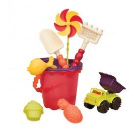 B. Medium Bucket Set Beach Toy - Mango