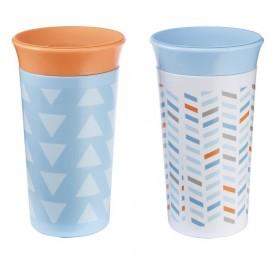 TFY Simply Spoutless 9oz Cup - 2pk Blue