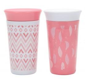 TFY Simply Spoutless 9oz Cup - 2pk Pink