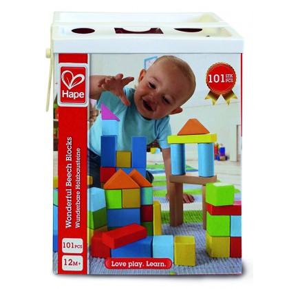 Hape Wonderful Beech Block Set - 101 pcs